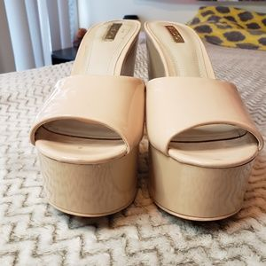 Aldo Cream Platform Shoes